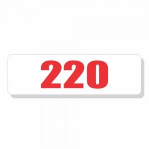 Adesivo Autocolante Etiqueta 110 v Verm Cartela 64 Unidades