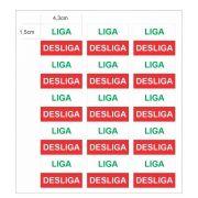Adesivo Autocolante Etiqueta Liga Desliga Com 30 Unidades