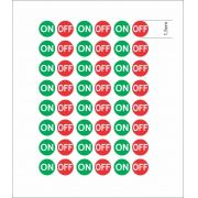 Adesivo Autocolante Etiqueta On Off Cartela 48 Unidades