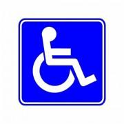 Adesivo de Chão para Identificação Espaço para Cadeirante