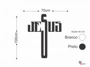 Adesivo de Parede Nome Jesus para Sala de Star 140x75cm