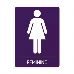 Adesivo Identificação Banheiro Feminino