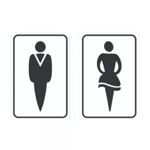 Adesivo Identificação Informação Sanitário Masculino Feminino