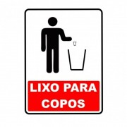Adesivo Identificação Lixo para Copos Reciclável