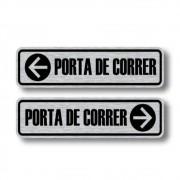 Adesivo Informação Porta de Correr Com 2 Unidades