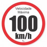 Adesivo Para Frota Velocidade Máxima 100km