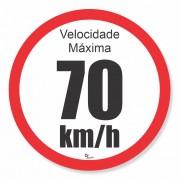 Adesivo Para Frota Velocidade Máxima 70km