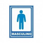 Adesivo Sinalização Banheiro Masculino Azul