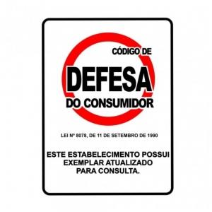 Adesivo Sinalização Código de Defesa do Consumidor