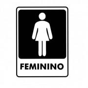 Adesivo Sinalização Identificação Banheiro Feminino