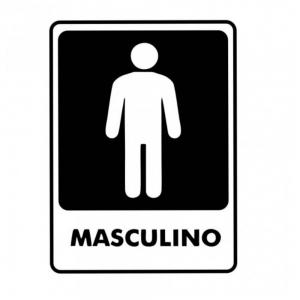 Adesivo Sinalização Identificação Banheiro Masculino