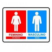 Adesivo Sinalização Identificação Banheiro Masculino Feminino