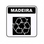 Adesivo Sinalização Identificação Lixo Madeira Reciclável