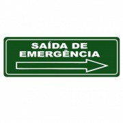 Adesivo Sinalização Identificação Saída de Emergência