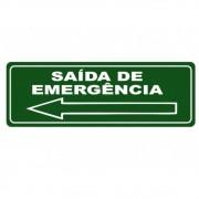 Adesivo Sinalização Identificação Saída de Emergência Esq.