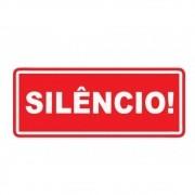 Adesivo Sinalização Identificação Silencio no Local