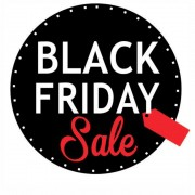 Adesivo Vitrine Black Friday Sale Redondo