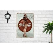 Placa Decorativa Bar Café Retro Yes Coca Cola