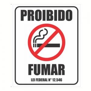 Kit 2 Adesivo Sinalização Proibido Fumar