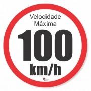 Pacote com 8 Unidades Adesivo Velocidade Máxima 100km