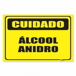 Placa de Sinalização Álcool Anidro
