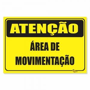 Placa de Sinalização Área de Movimentação
