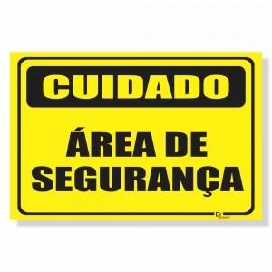 Placa de Sinalização Área de Segurança