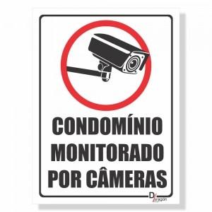 Placa de Sinalização Condomínio Monitorado 1