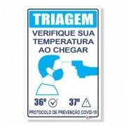 Placa de Sinalização Verifique sua Temperatura