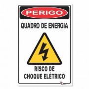 Placa de Sinalização Cuidado Risco de Choque Elétrico
