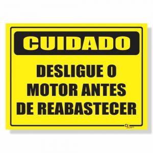 Placa de Sinalização Desligue o Motor