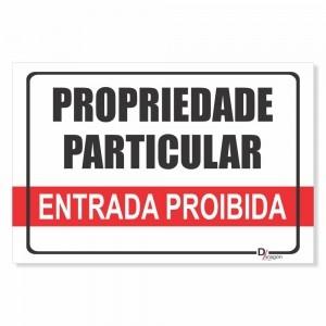 Placa de Sinalização Entrada Proibida