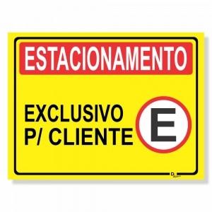 Placa de Sinalização Estacionamento Clientes 1