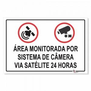 Placa de Sinalização Monitoramento Via Satélite 24 horas