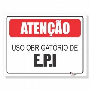 Placa de Sinalização Obrigatório uso E.P.I.