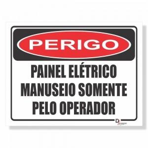 Placa de Sinalização Perigo Painel Elétrico