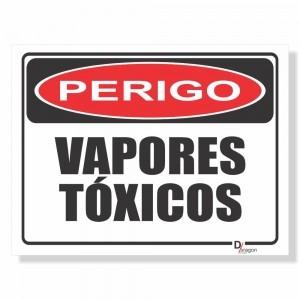 Placa de Sinalização Perigo Vapores Tóxicos