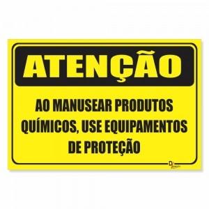 Placa de Sinalização Produtos Químicos