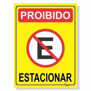 Placa de Sinalização Proibido Estacionar 2