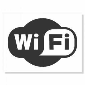 Placa de Sinalização Temos Wifi