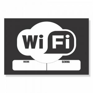 Placa de Sinalização Wifi Rede e Senha