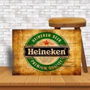 Placa Decorativa Bar Café Retro Original Heineken