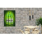 Placa Decorativa Bar Cartaz Cerveja Heineken Green