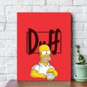 Placa Decorativa Bar Homer Simpson Cerveja Duff