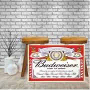 Placa Decorativa Bar Rotulo Budweiser King Of Beer