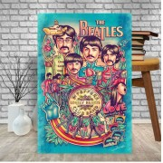 Placa Decorativa Beatles Lonely Hearts