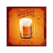 Placa Decorativa Best Beer Traditional Cartaz Retro 30x30cm
