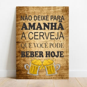 Placa Decorativa Cerveja Hoje