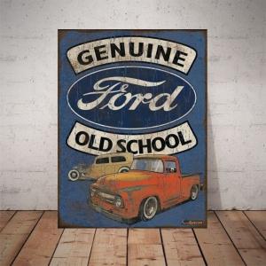 Placa Decorativa Ford Old School