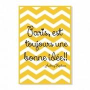 Placa Decorativa Frase Paris Est Toujours Une Bonne Idée